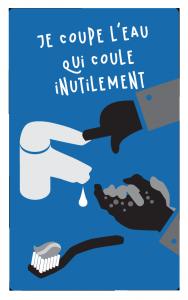 Picto coupe eau : éco-gestes sur l'eau